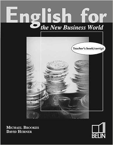 Livres English for the new business world, livre du prof pdf ebook