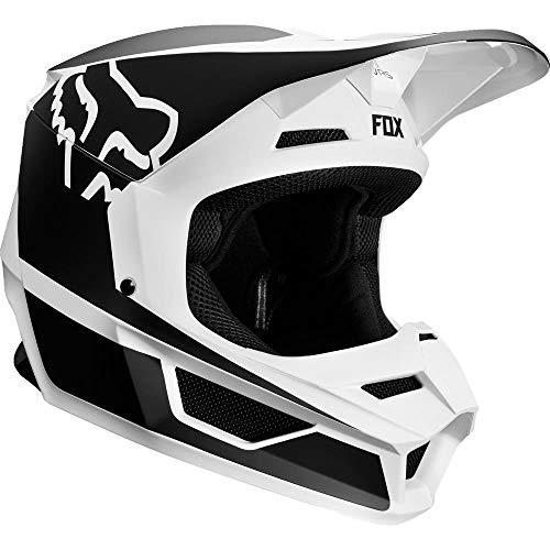 (2019 Fox Racing V1 Przm Off-Road Motorcycle Helmet - Black/White / X-Large)