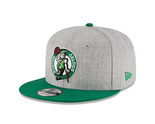 New Era NBA Boston Celtics Adult Men NBA 9Fifty 2Tone Heather Snapback Cap,Osfa,Heather - Boston Era Celtics New Hats