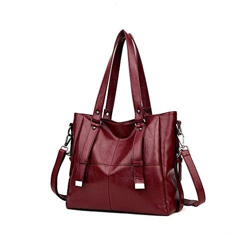 Ajlby Europe Bags And Messenger Bag Bag Soft Leather Shoulder Bag Fashion Us Winered