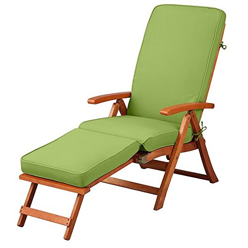 Steamer Deck Chair - Key Lime Pie Green Outdoor All Weather Cushion for Steamer Pool Deck Chair Seasonal Replacement Cushion