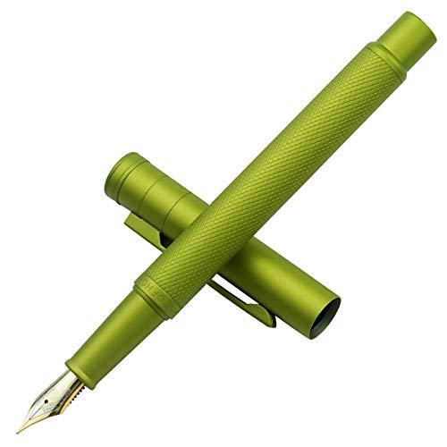 Hongdian Green Forest Metal Fountain Pen, Beautiful Tree Texture Fine Nib Writing Office Pen