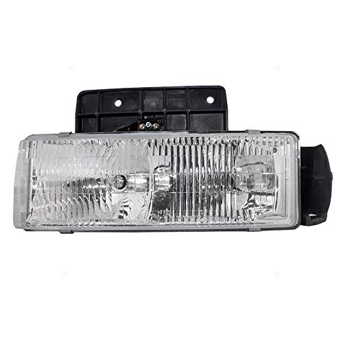New Left Driver Side Headlamp Assembly For 1995-2005 Chevrolet Astro & GMC Safari, With Mounting Panel GM2502180 16524091