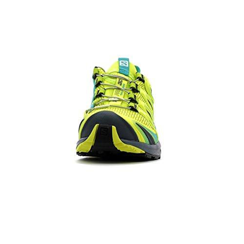 Salomon Xa Pro 3d W, Zapatillas de Trail Running para Mujer Verde (Sulphur Spring/Ceramic/Ombre Blue)