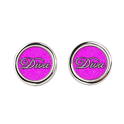 Cufflinks (Round) Pink Diva Princess by Royal Lion