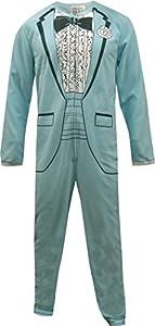1970's Baby Blue Tuxedo Onesie Pajama for men