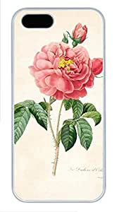 iPhone 5 5S Case nature flower colorful 14 PC Custom iPhone 5 5S Case Cover White