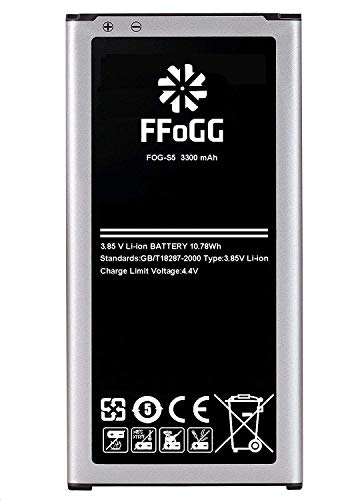Galaxy S5 Battery,FFOGG 3300mAh Li-ion Replacement Battery for Samsung Galaxy S5 [ I9600, G900F, G900V (Verizon), G900T (T-Mobile), G900A (AT&T),G900P(Sprint)] [2 Years Warranty]