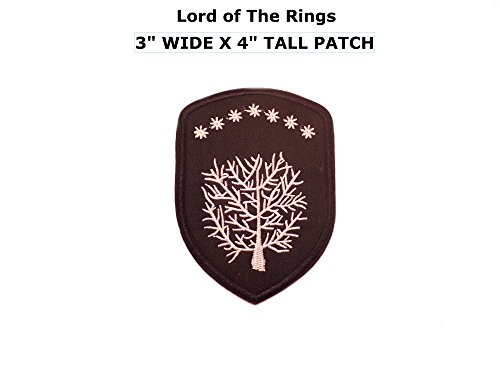 Application Lord of The Rings House Gondor Crest Embroidered Sew/Iron-on Patch (Lord Of Rings Rings)
