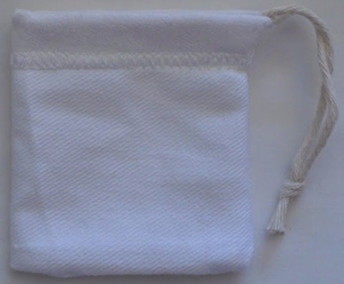 Small Denim Bag 3 By 3 Inches White