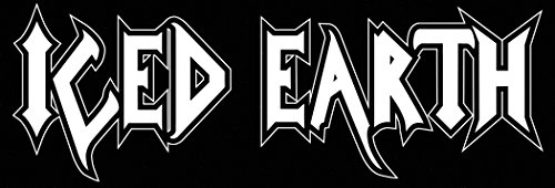 ICED EARTH ROCK BAND SYMBOL 8' DECORATIVE DIE CUT DECAL - WHITE