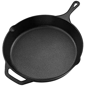Utopia Kitchen Pre-Seasoned Cast Iron Skillet – 12.5 Inch – Multipurpose Use for Home Kitchen or Restaurant