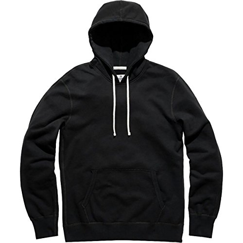 - Reigning Champ Men's Mid Weight Terry Pullover Hoodie, Black, Large