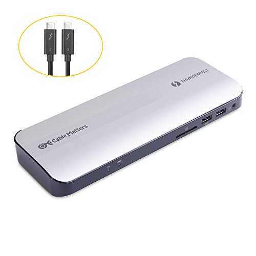 [Certified] Cable Matters Aluminum Thunderbolt 3 Docking Station with Dual 4K 60Hz Video and 60W Power Delivery for Windows & Mac (Not Compatible with USB-C Ports without the Thunderbolt Logo) by Cable Matters (Image #5)