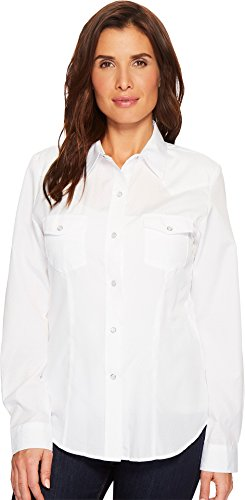 Roper Women's 1649 Diamond Tone On Tone White Large (Ton White Shirt)