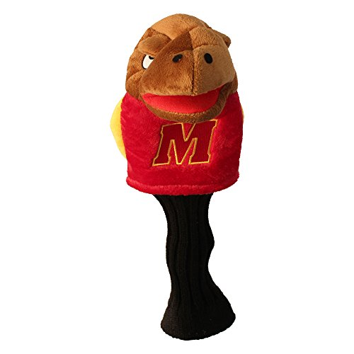 Team Golf NCAA Maryland Terrapins Mascot Golf Club Headcover, Fits most Oversized Drivers, Extra Long Sock for Shaft Protection, Officially Licensed Product - Maryland Terrapins Headcovers