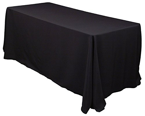 10 Pack 90x132 Polyester Table Linens (Black)