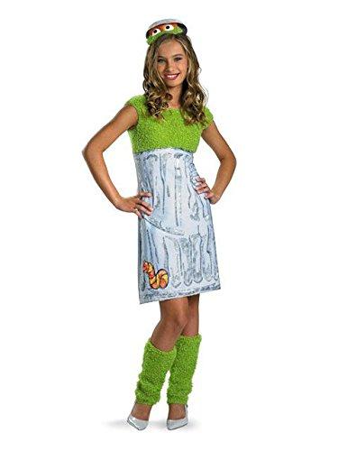 Oscar the Grouch Tween Costume - X-Large -