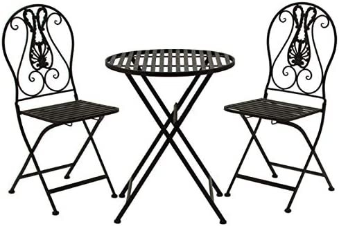 L\'ORIGINALE DECO Mobilier Salon de Jardin 1 Table 2 Chaises ...