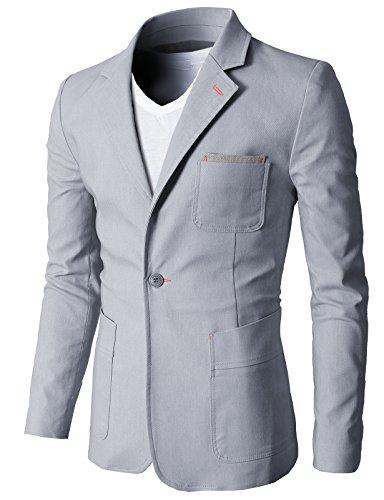 H2H Fashion Single Button Pockets