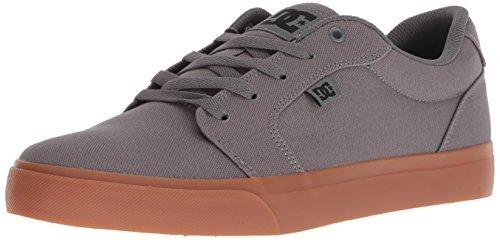 DC Men's Anvil Tx Skate Shoe, Black/Grey, 10 Medium US