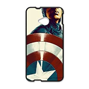 HTC One M7 Cell Phone Case Black_Capitain America Illustration Qmatl