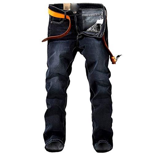 Primavera Autunno Stazsx Stile E Jeans Stretch Lunghi Pantaloni Semplice Uomo Larghi Diritti Nnen Nero Sezione 1qx0pIq