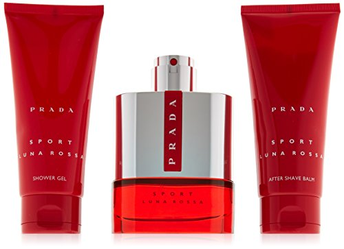 Prada Luna Rossa Sport for Men 3 PC (3.4 Eau De Toilette / 3.4 shower gel / 3.4 after shave balm) by Prada