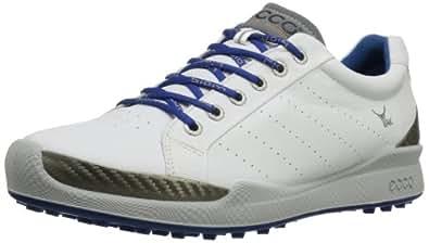 ECCO Men's BIOM Hybrid Golf Shoe,White/Royal,40 EU/6-6.5 M US