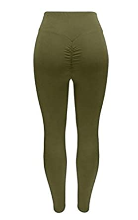 9ad7bf09082 Ibelive Womens Tummy Control Ruched Booty Yoga Pants High Waist Depot  Workout Stretchy Leggings: Amazon.co.uk: Clothing