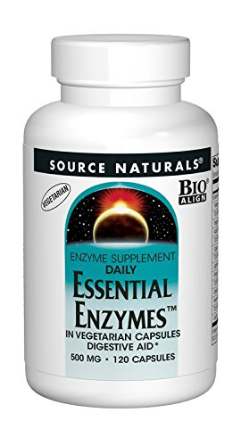Enzymes Foods Natural (Source Naturals Essential Enzymes 500 Mg Vegetarian Capsules, 120-Count)