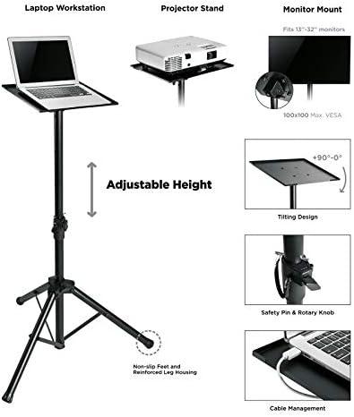 Value Höhenverstellbares Dreibein Stativ Schwarz Computer Zubehör