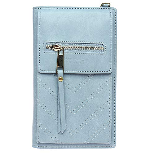 Kukoo Small Crossbody Bag Cell Phone Purse Wallet with Credit Card Slots for Women ()