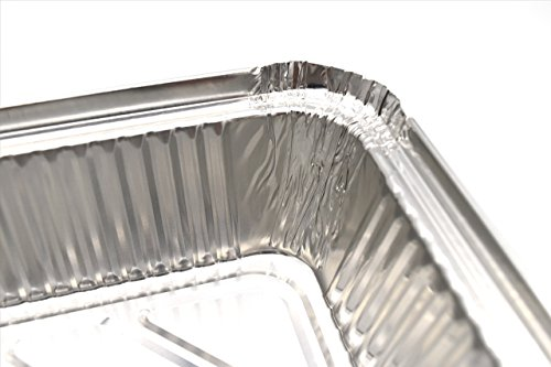 Fig & Leaf (120 Pack) Premium 2-LB Takeout Pans with LIDS l Standard 8.6'' x 6.1'' x 2'' l Top Choice Disposable Aluminum Foil for Catering Party Meal Prep Freezer Drip Pans BBQ Potluck Holidays by Fig & Leaf (Image #1)