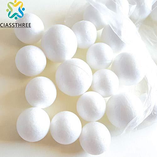 Balls For - 5pcs Lot 3 5 7 10cm Modelling Polystyrene Styrofoam Foam Ball White Craft Diy Christma Party Decoration Supply - Globe Orb Clump Christmastime Testi Christmastide Bollock