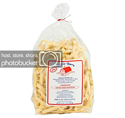 Homemade Extra Wide Noodles- Little Barn- 1 LB Bag- All Natural