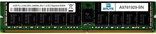 Brute Networks A9781929-BN – 32GB PC4-21300 DDR4-2666Mhz 2Rx4 1.2v ECC Registered RDIMM (Equivalent to OEM PN # A9781929)