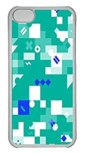 Abstract ID04 PC Case Cover for iPhone 5C Transparent