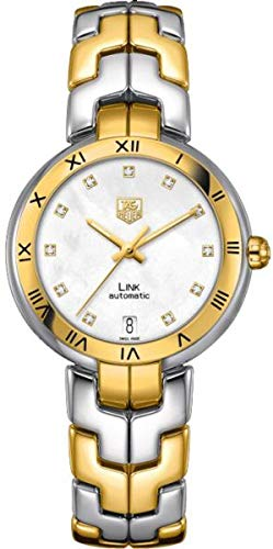 Womens 18k Gold Automatic Watch - TAG Heuer Women's WAT2351.BB0957 Diamond-Accented 18k Gold and Stainless Steel Automatic Watch