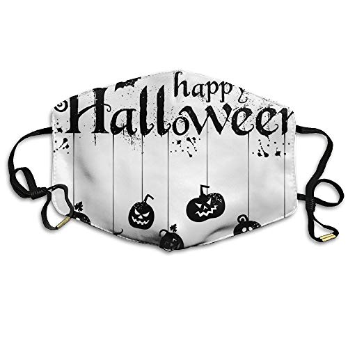 Zoe Diro Unisex Happy Halloween Text Banner with Spiders Anti Germs Lip Mask Mouth Face Masks ()