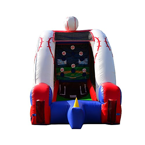 - JumpOrange Inflatable Outdoor Backyard Baseball Games for Kids & Adults, Bounce House with Blower and Foam Baseball Bat