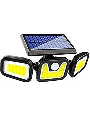 Duotar Lâmpada LED COB montada na parede externa Luzes do sensor de movimento movi a energia solar Iluminação ativada por movimento Ângulo ajustável Lâmpada de rua à prova d'água para