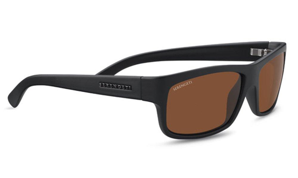 Serengeti Martino Sunglasses Satin Black, Brown