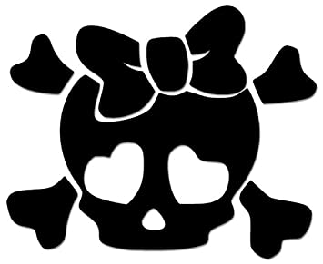 2e4096800aeb Image Unavailable. Image not available for. Color: Death Skull Crossbones  Cute Girl Bow Tie ...