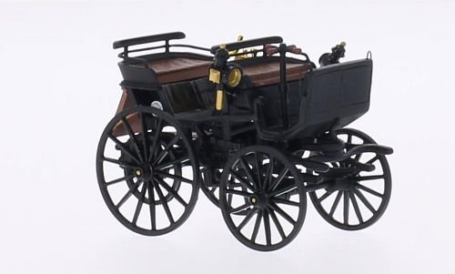 daimler-kutschenwagen-black-1886-model-car-ready-made-neo-143-by-daimler