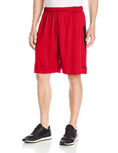 Champion Men's Double Dry Select Short, Scarlet/Black, S