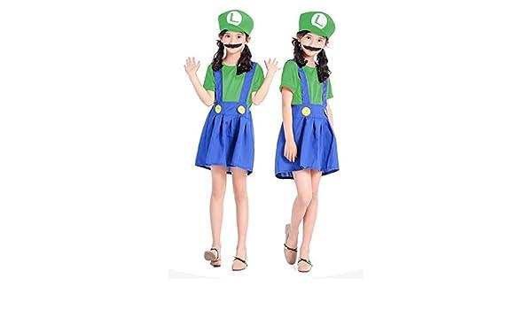 BCOGGCosplay Disfraz de Super Mario Bros para Adultos y niños ...