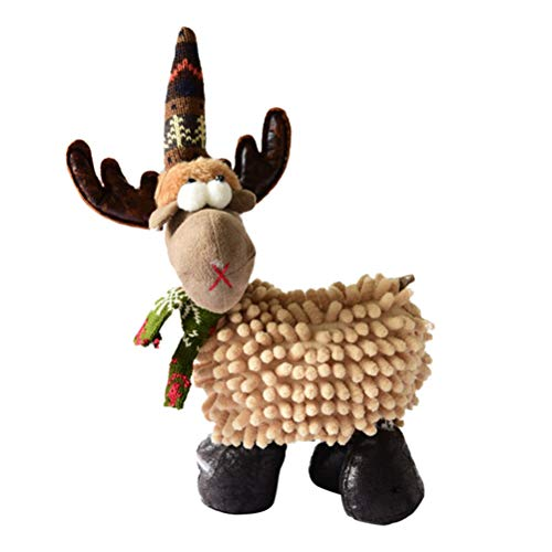 TOYMYTOY Small Plush Deer Toy Elk Reindeer Doll Toy for Christmas Ornament