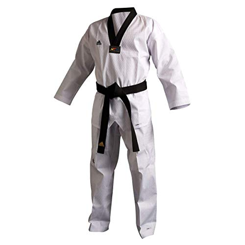 Adidas AdiChamp II Taekwondo Uniform with Black V Neck