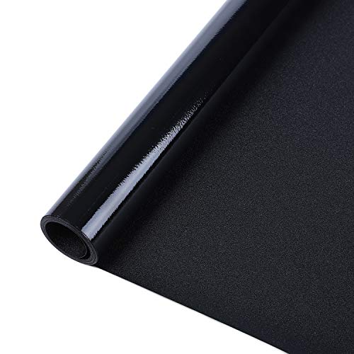 (Rabbitgoo Blackout Window Film Privacy Window Cling Dark Window Tinting Film Non-Adhesive Window Sticker Light Blocking 17.5